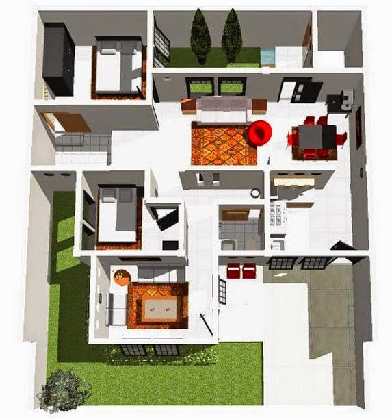 desain rumah minimalis denah rumah minimalis 1 lantai 1 2