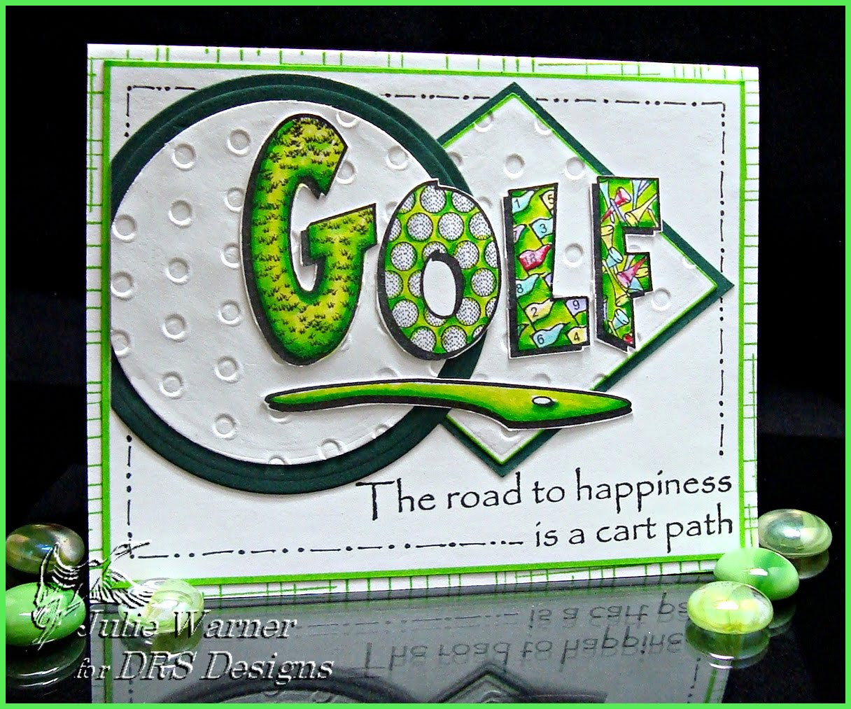 drs designs rubber stamps  golf