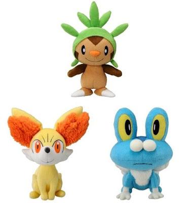 Pokemon Chespin Fennekin Froakie Plush Tomy