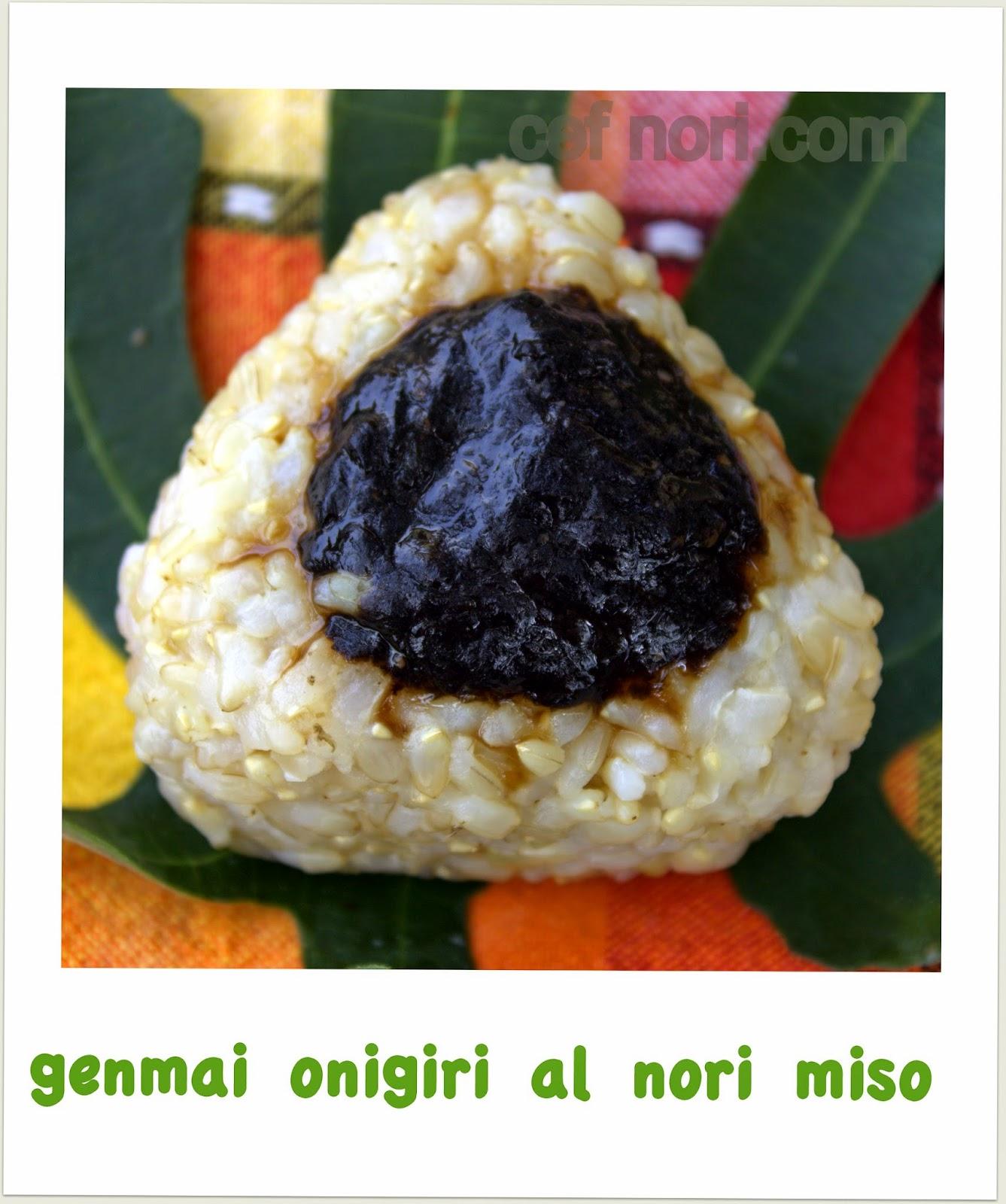 Chef nori onigiri al riso bianco e integrale