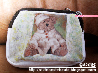 Custom Teddy Bear on Cuteb  Canvas Teddy Bear Pouch  Custom Made