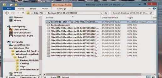 Cara Membuat System Image Windows 8 Dengan Cara Efektif