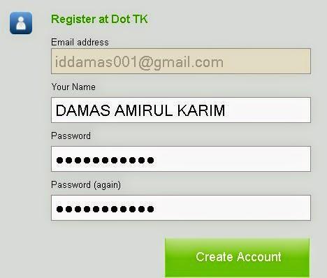 daftar domain tk