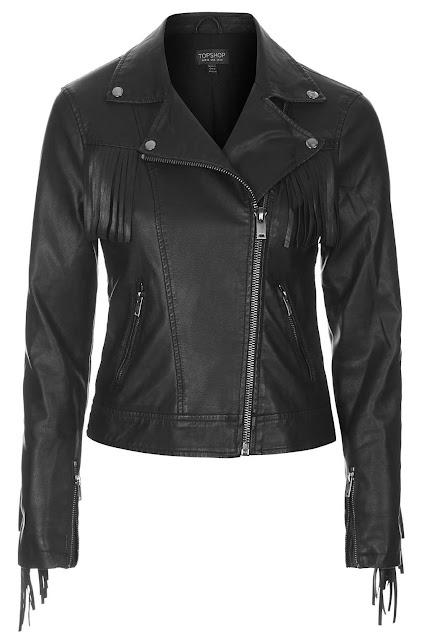 faux leather tassel jacket, tassel biker jacket,
