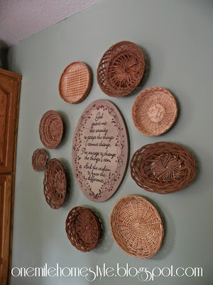 Thrifted basket wall art