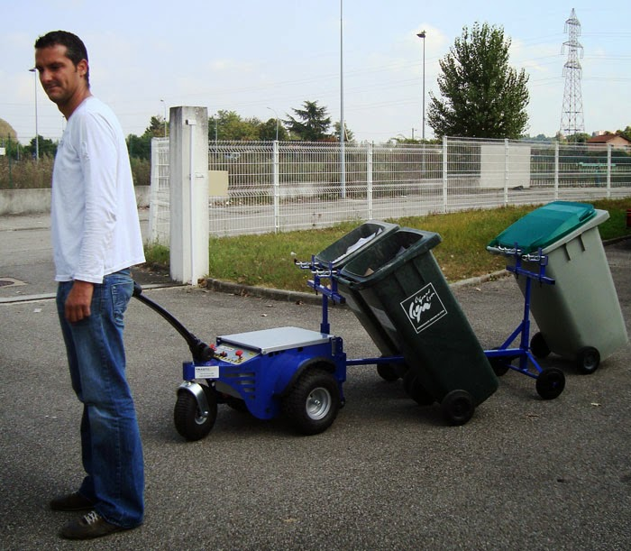 cart pusher machine