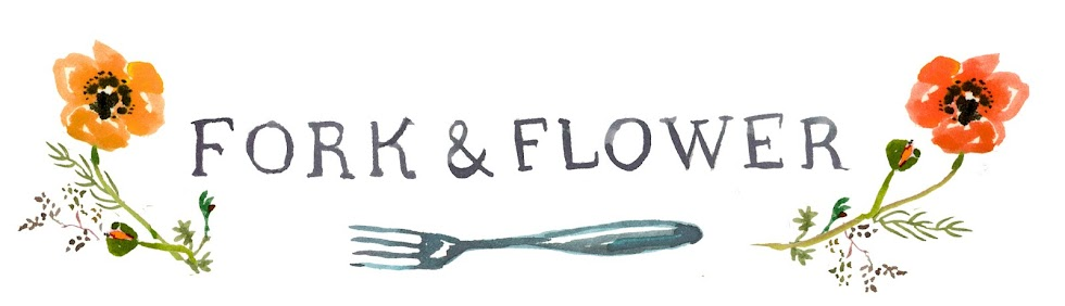 fork and flower