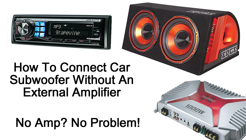 Can you hook up speakers without an amp