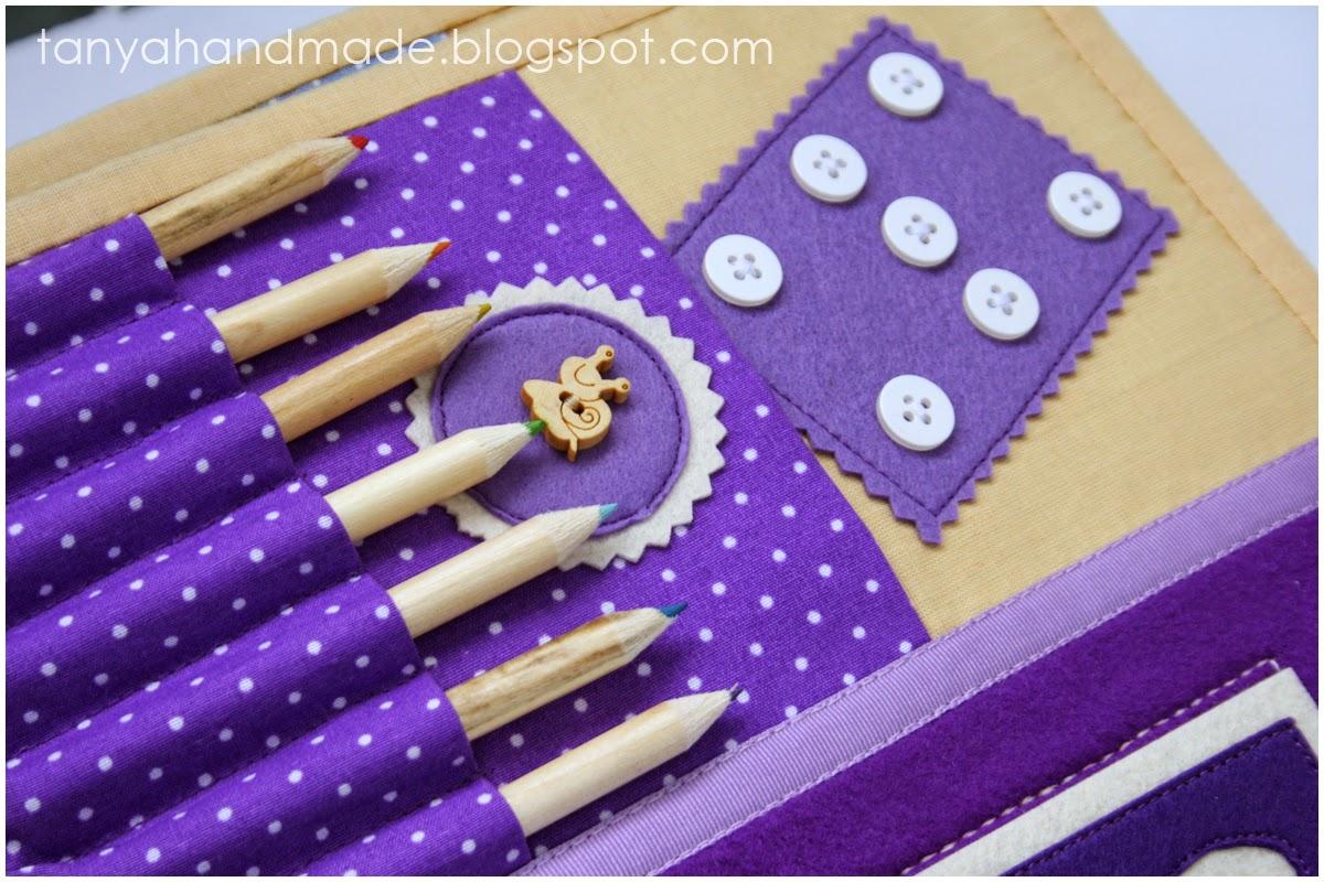 quiet book rainbow, развивающая книга, тихая книга, книжка развивайка, игрушка для ребенка, радуга, аппликации, стильная игрушка, подарок ребенку, качественная книга, стильный подарок, качественный подарок, эксклюзивный подарок, фетр, аппликации из фетра, ручная работа, из фетра, пуговицы, фиолетовый, карандаши, храниение для карандашей, сенсорика, моторика,