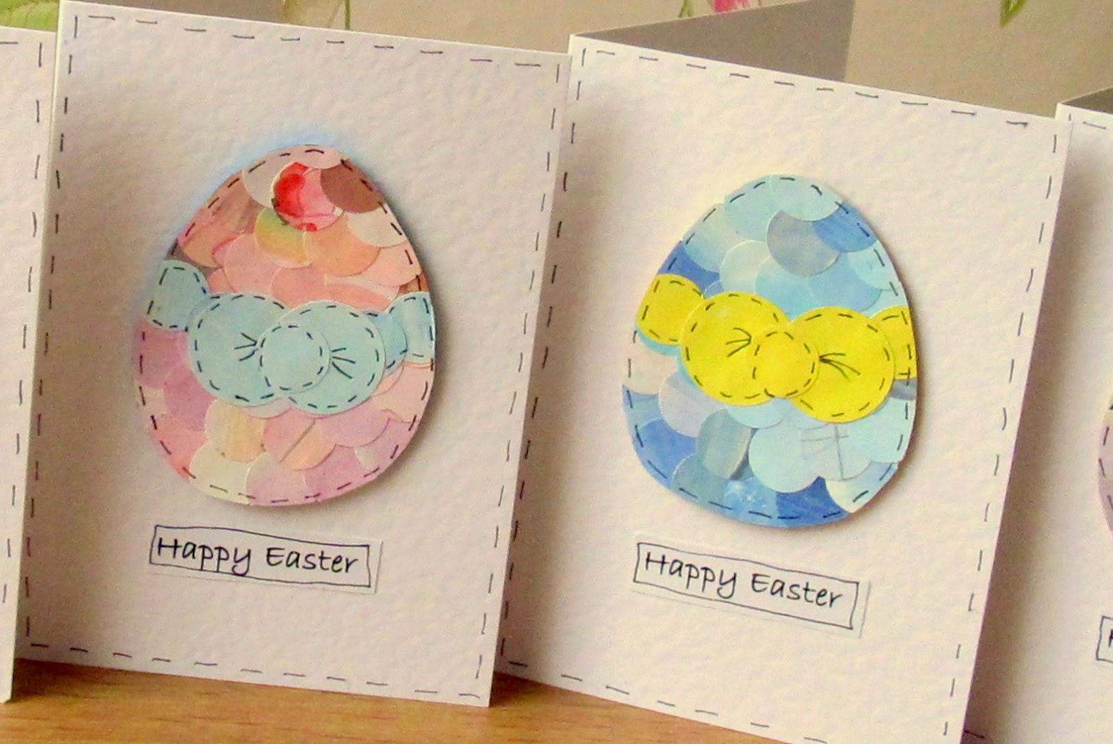Jennuine by Rook No 17 DIY Vintage Paper Easter Egg Art Guest – Handmade Easter Cards Ideas