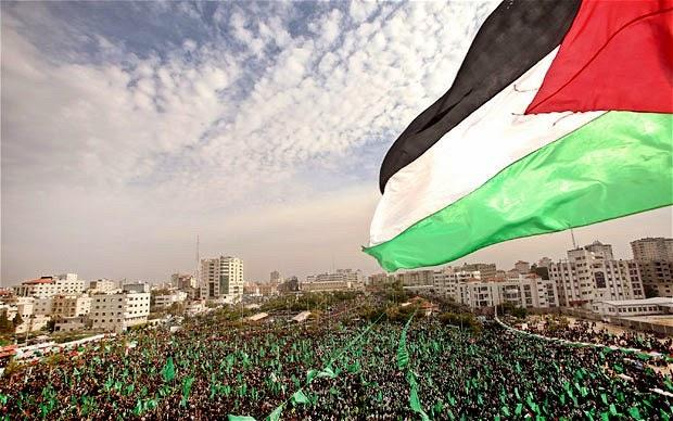 Hamas dan bendera Palestina