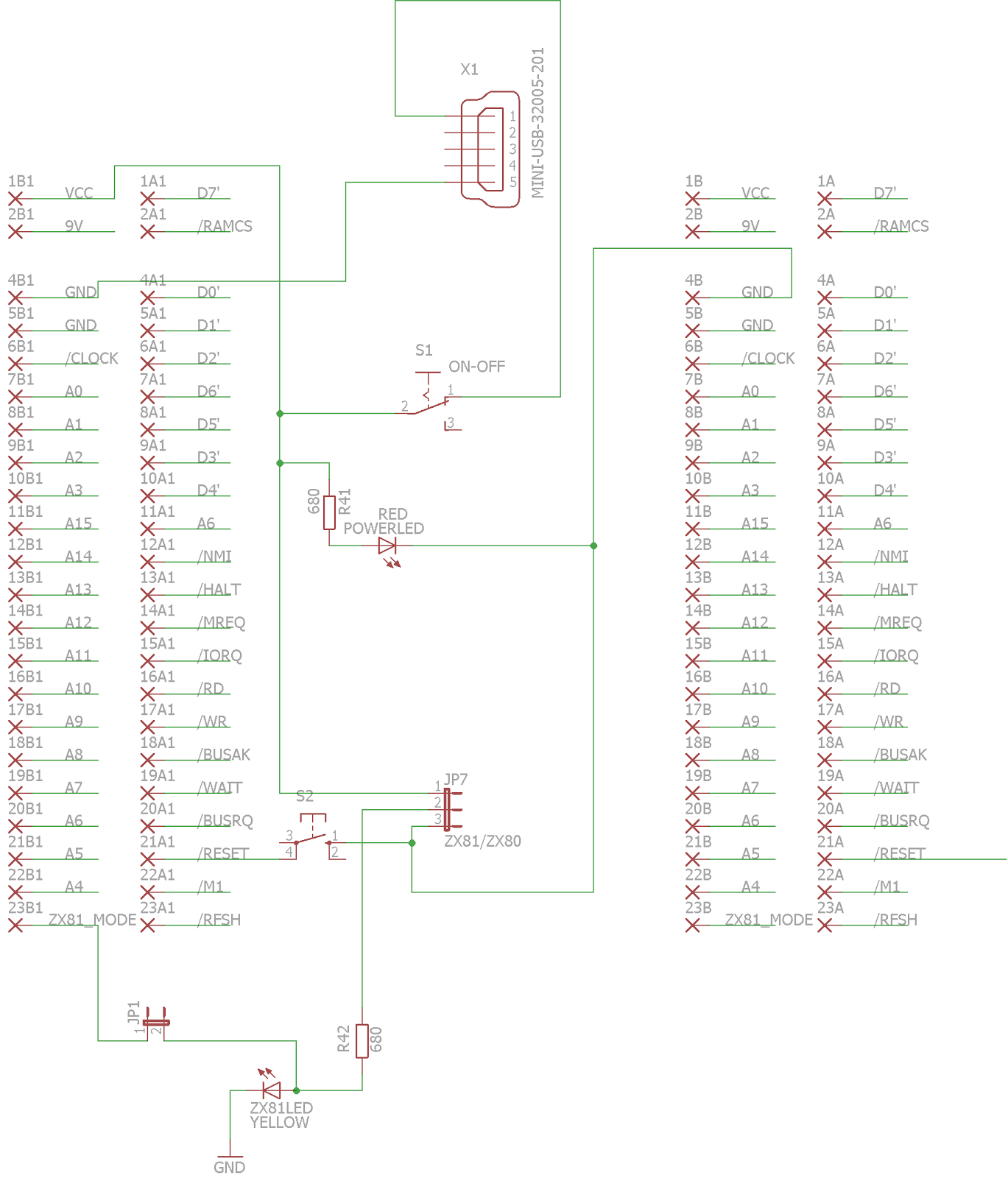Los Retrocacharros De Wilco Schematic Available In Pdf And Eagle Formats The Schematics Format Expansion Board Let You To Supply Power Computer With A Miniusb Charger If Plan Use External Cards Using 9v