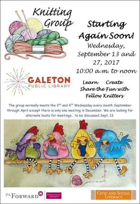 9-13/27 Knitting Group