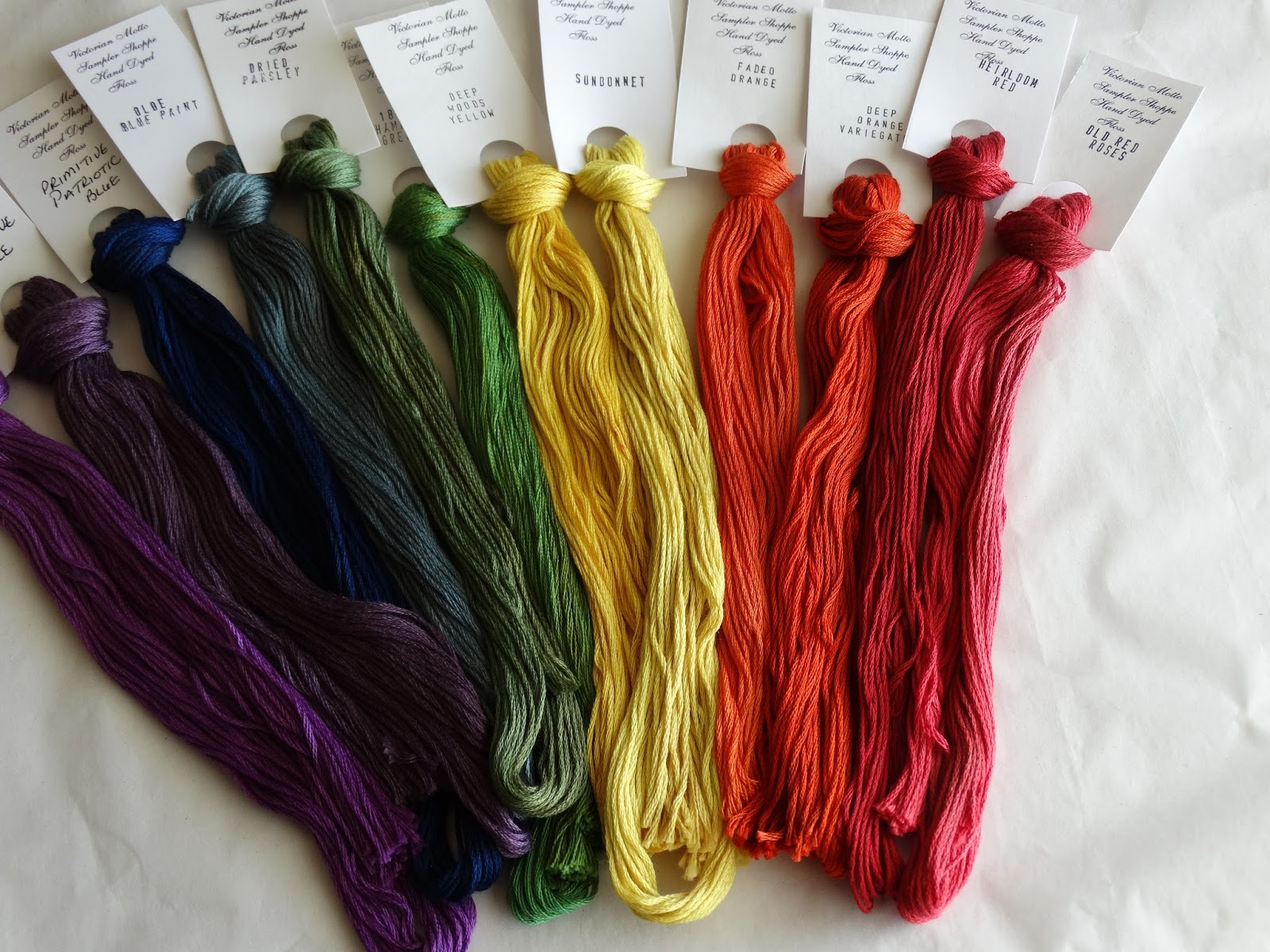 Victorian Motto Sampler Shoppe's Rainbow Floss Giveaway