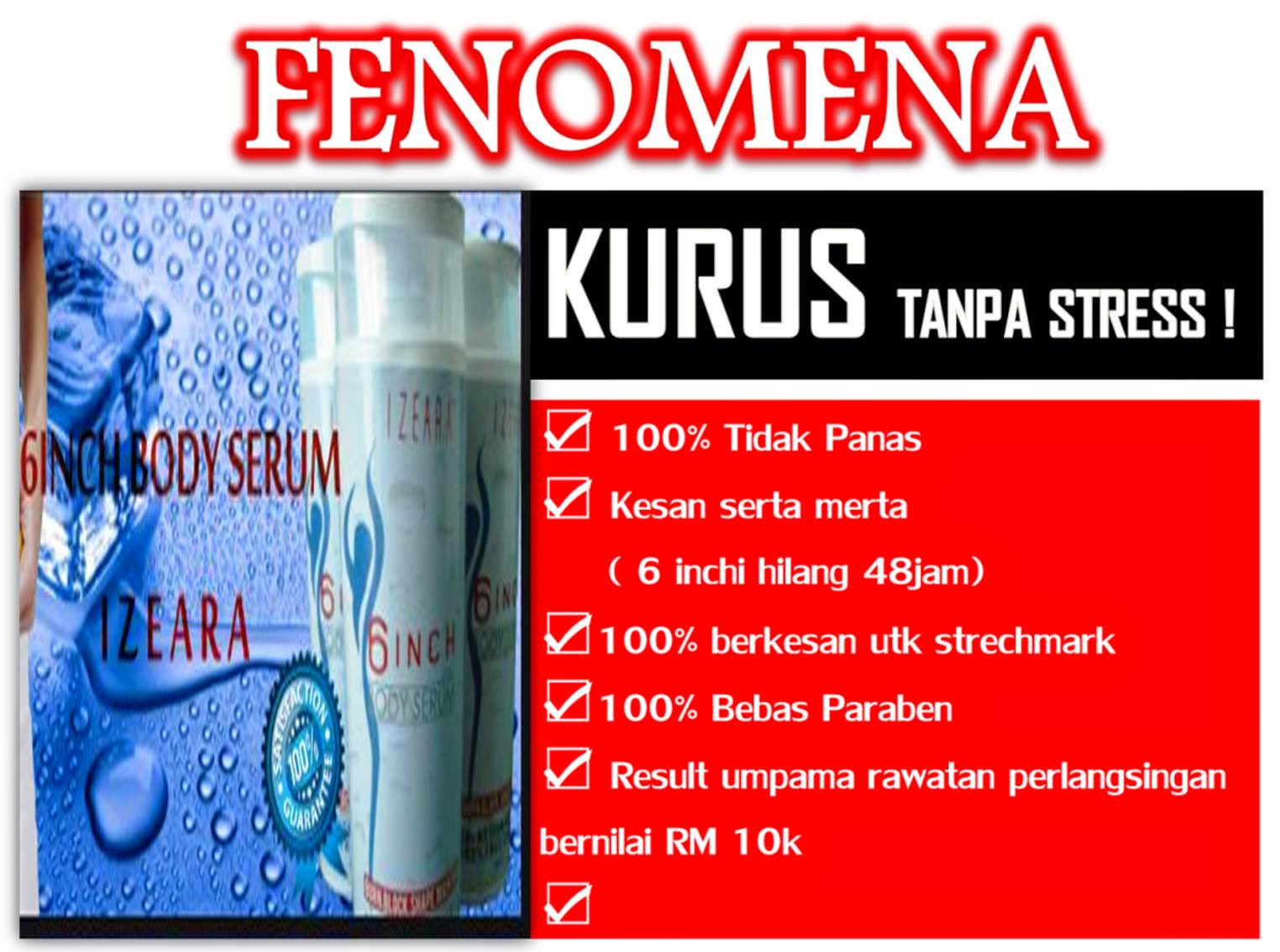 NA BEAUTY SHOPPE IZEARA 6INCH BODY SERUM RAHSIA ENOT KURUS