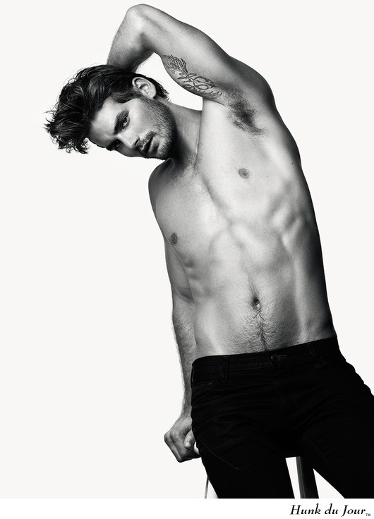 Picture About Male Model Josh Slack in Black and White