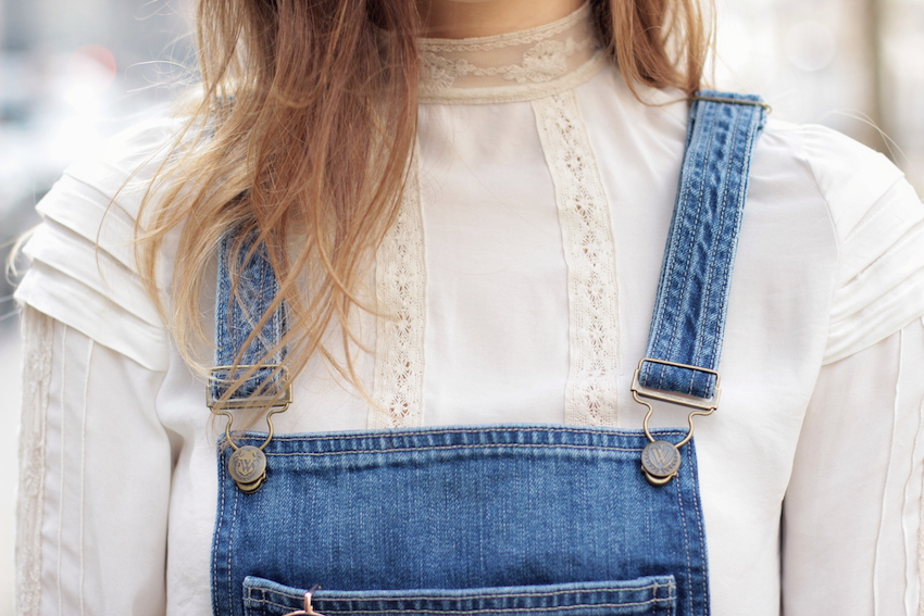 wildfox denim overalls