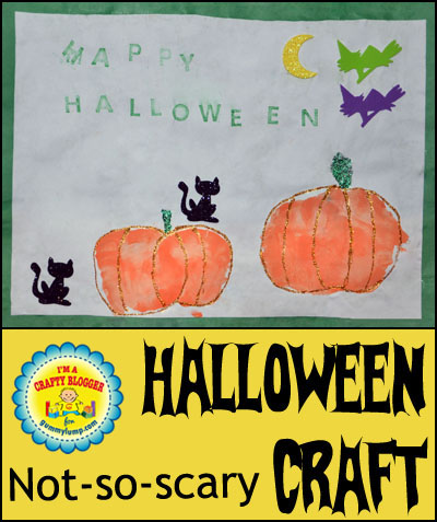 Gummy Lump Crafty Blogger: Handprint Pumpkin Halloween Craft