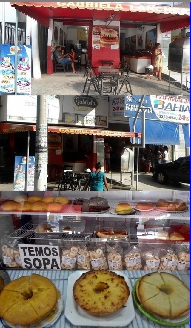 Gabriela Lanches em frente da Assembléia de Deus e ao lado da Farmácia Bahia, Lauro de Freitas