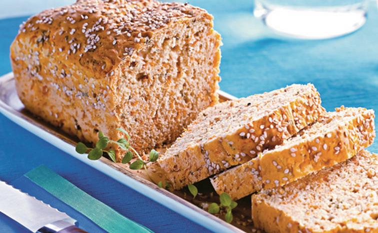Pão de abóbora com queijo light