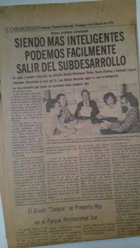14-Periódico el Carabobeño,Venezuela,4/2/ 1979 reportaje aNaum Kliksberg y a laDra.Consuelo Cegarra