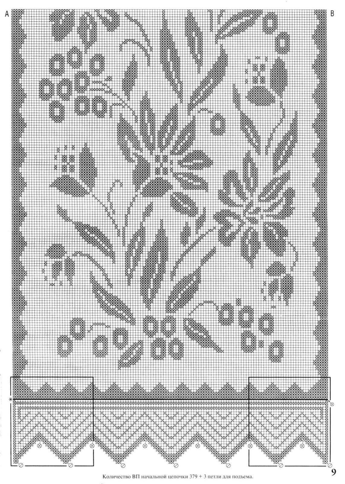 Схемы филейные вязания фото