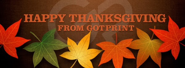 GotPrint Happy Thanksgiving banner