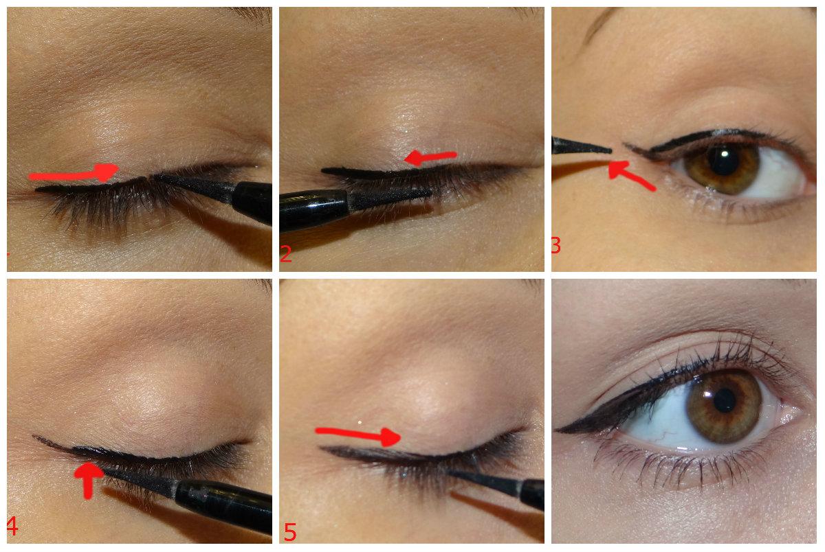 Как рисовать стрелки на глазах поэтапно для начинающих