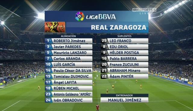 La Liga - Jornada 21 (28-01-12) Real Madrid-Zaragoza