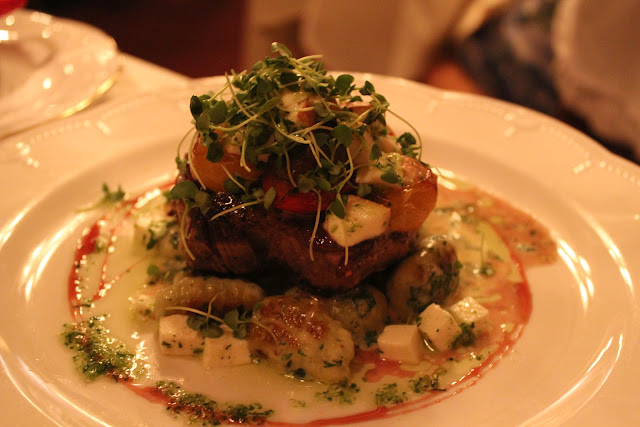 Filet with tomatoes and mozzarella at Ristorante Massimo, Portsmouth, N.H.
