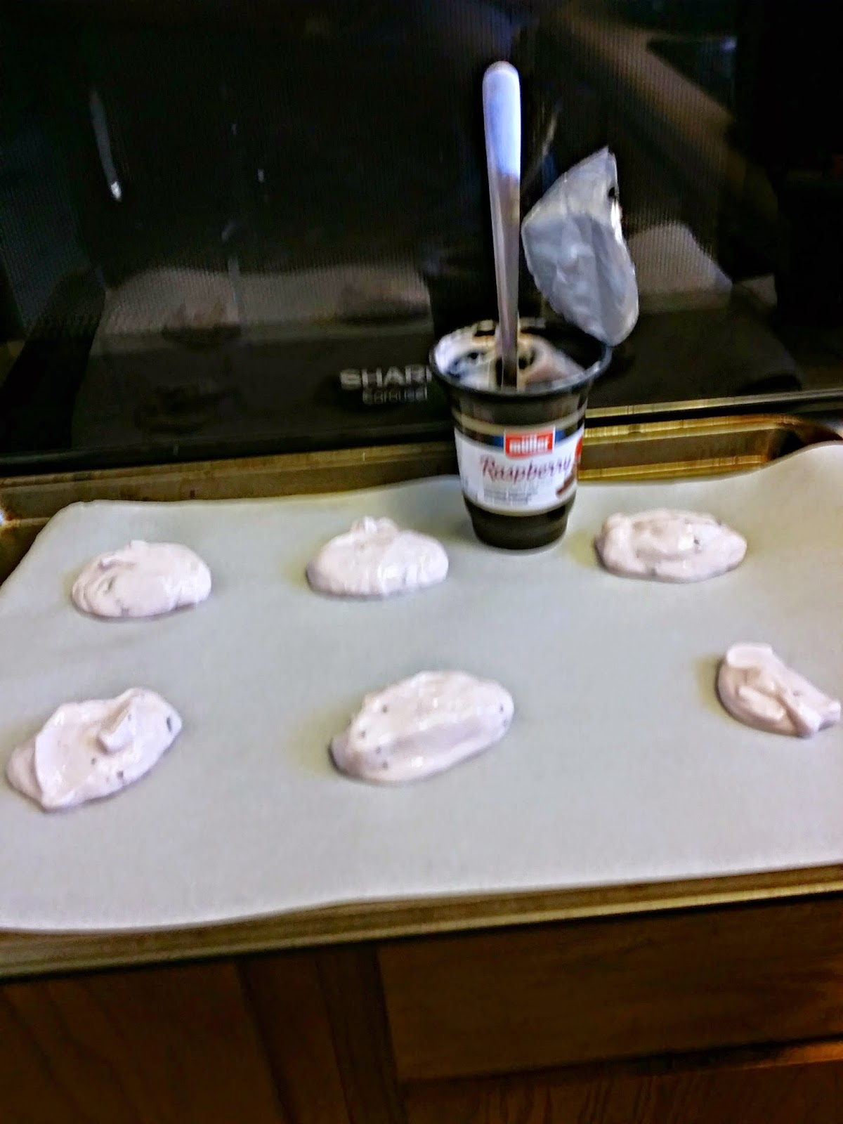 Yogurt on the cookie sheet #MullerMoment