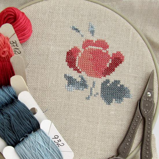 вышивка, Fleurs de Digoin