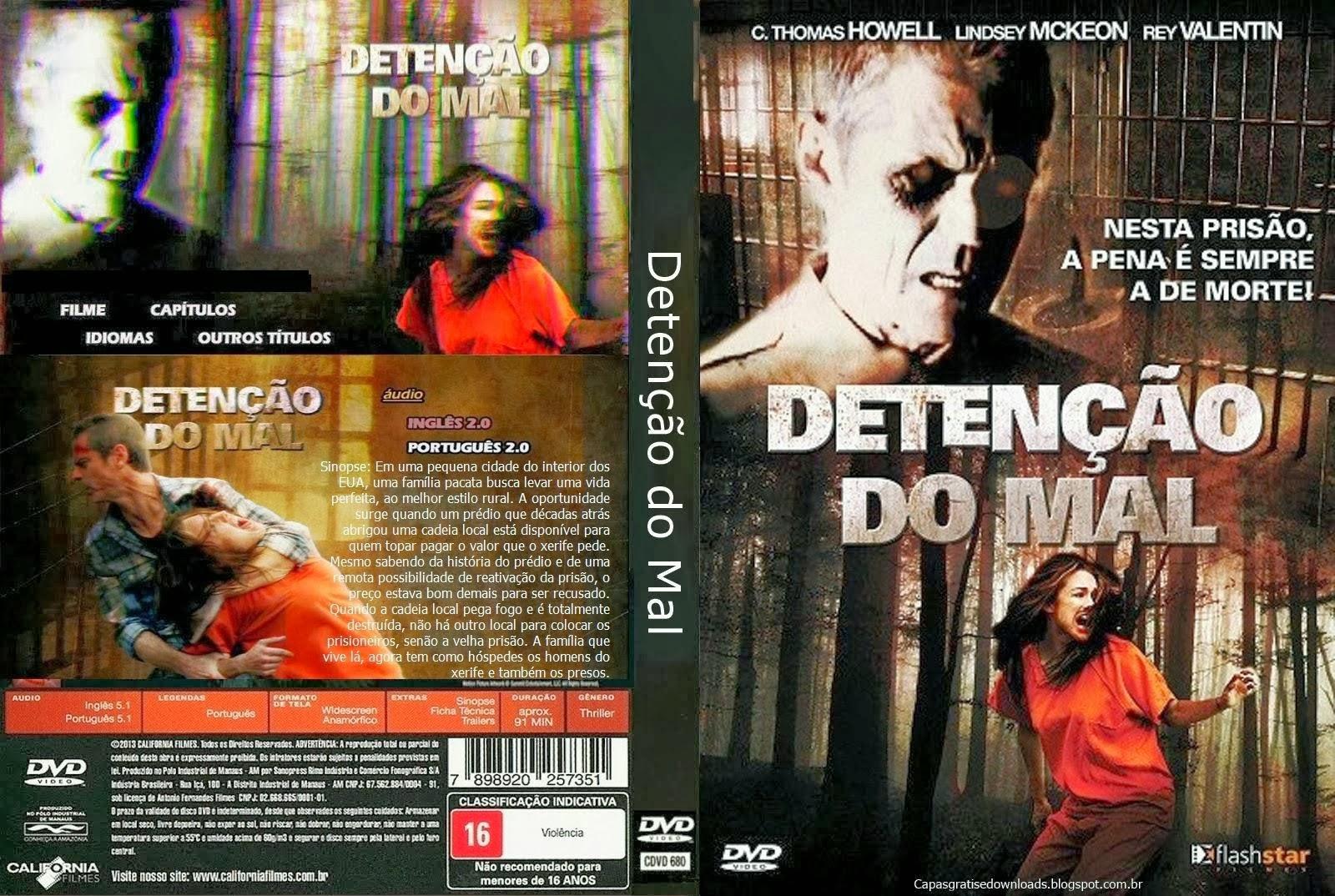 Detenção do Mal DVD Capa