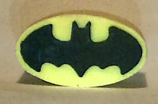 Front view of Batman pencil top eraser