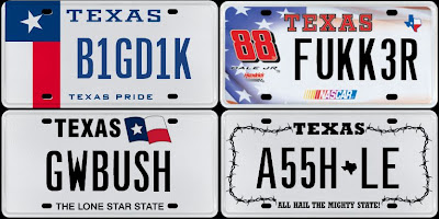 Banned Texas License Plates