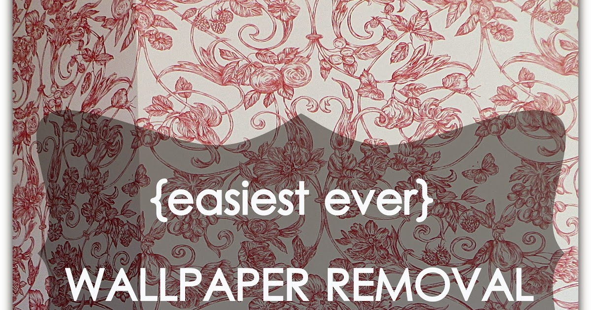 Goodbye house hello home blog goodbye toile hello for Home wallpaper removal tips