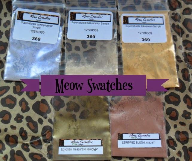Meow Cosmetics Swatches