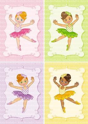 Ilustração para kit de Festa Bailarinas