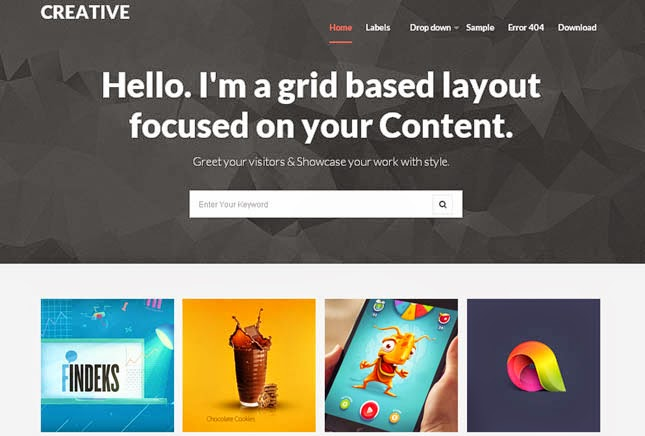 Creative Responsive Blogger Template