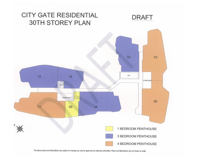 typical plan - City Gate Former Keypoint Singapore