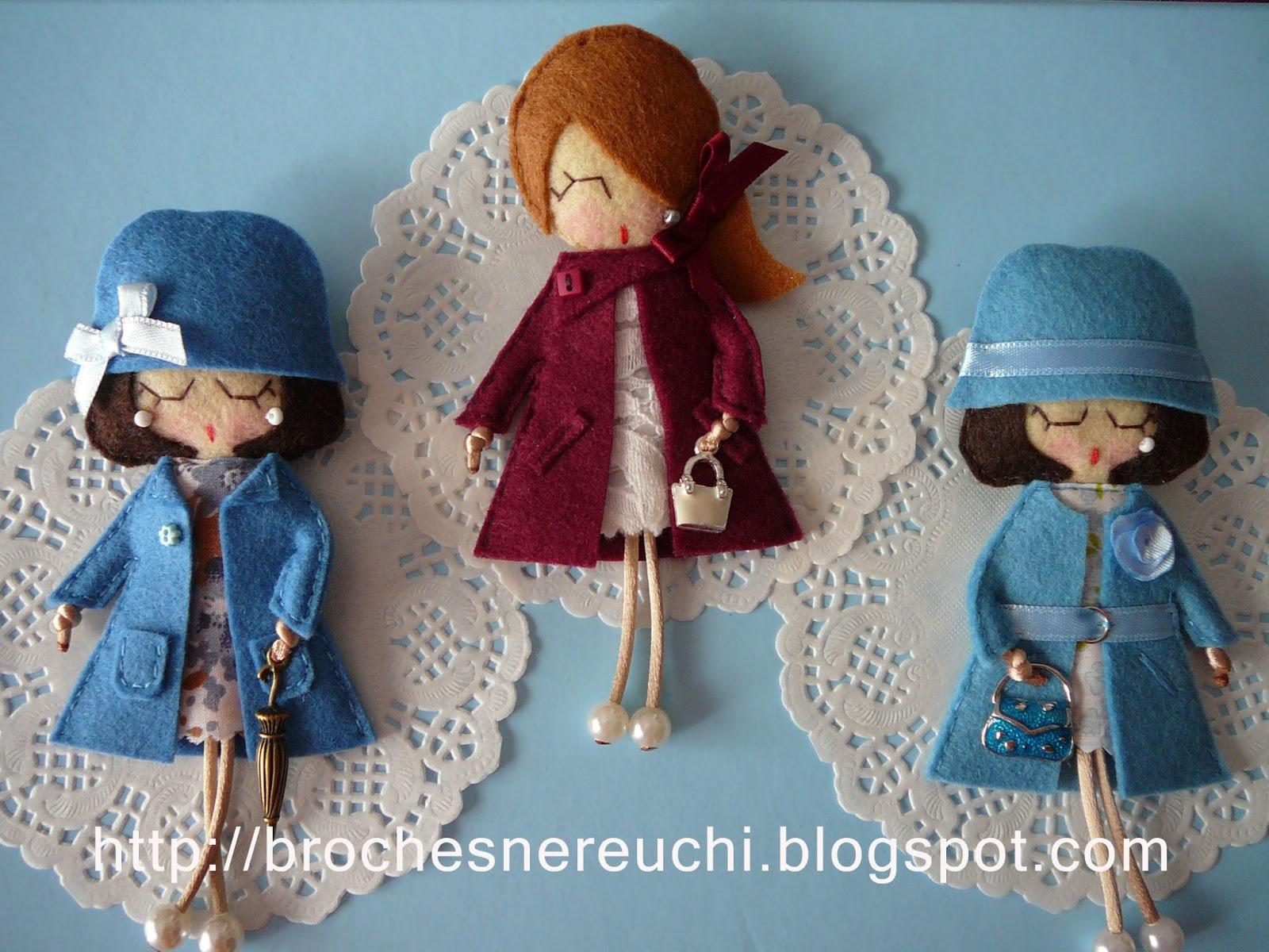 Игра в куколки шьём мягкие брошки из фетра Ярмарка 15