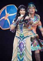 Cher During Her Sold-Out 'Dressed To Kill Tour' Stop In Boston Last Night