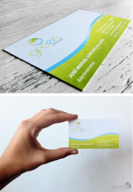 business card groen