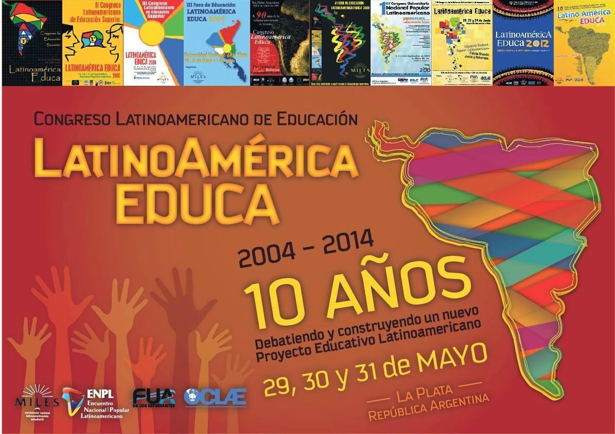 """Afiche del XI° Congreso Latinoamericano de Educación """"Latinoamérica Educa"""""""