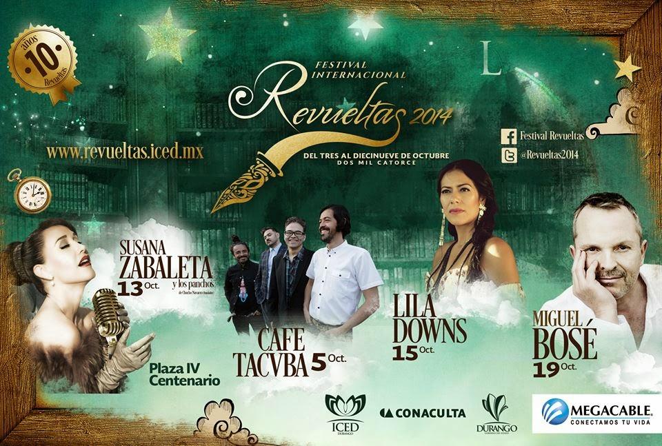Artistas Festival Revueltas 2014 Durango