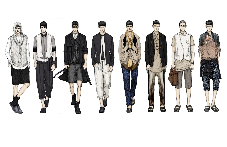 Men fashion illustration - photo#1