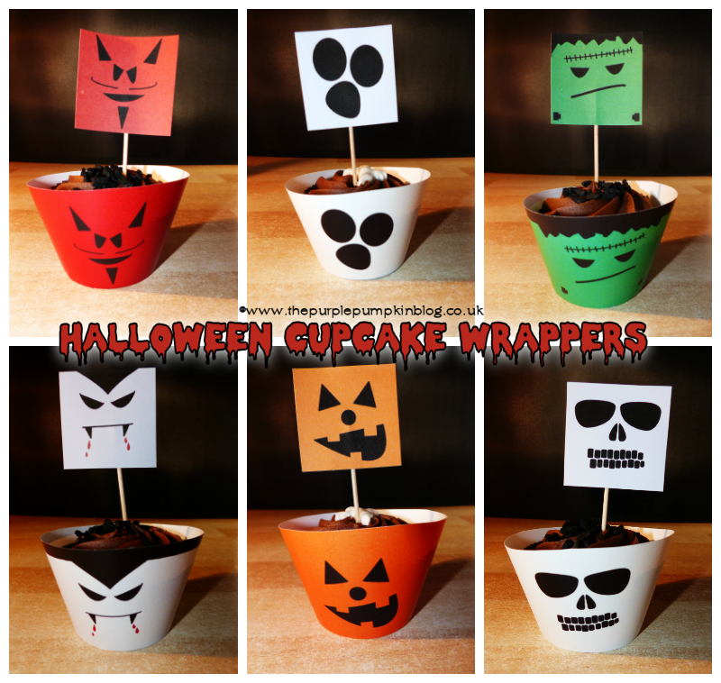 Free printables! Halloween Cupcake Wrappers - perfect for a frugal Halloween party because they're FREE to download + tons more Halloween printables!