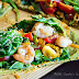 Flatbread Pizza made with Matcha {Green Tea Powder}