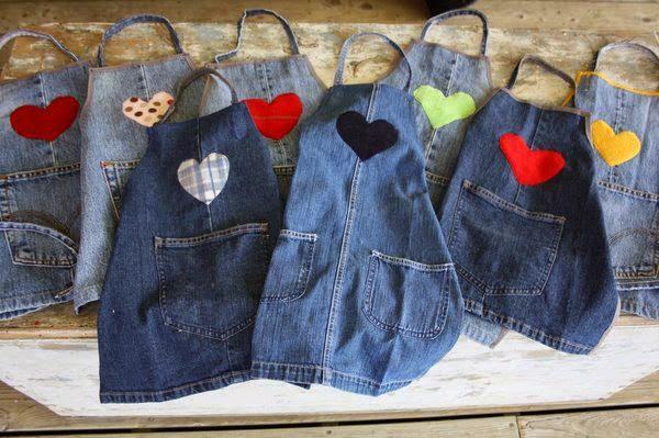 Фартук из джинсовой ткани своими руками