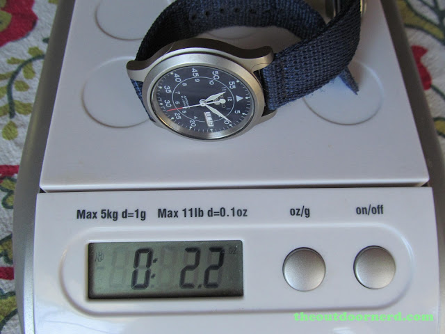 "Seiko SNK807 ""Seiko 5"" Automatic Men's Watch: On Scale"